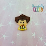 Cowboy Toy Feltie ITH Embroidery Design 4x4 hoop (and larger)